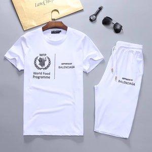 Men's new brand designer suit T-shirt and pants men's cotton short sportswear ladies summer suit short sports suit 2 piece set s-3XL