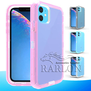 New Clear Case Robot Transparente Cases completa Defender Corpo iPhone For Cover 11 Pro XS MAX XR 8 Samsung S20 Ultra S10 S10E S8 S9 Plus Nota 10