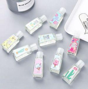 Viagem portátil 30ml Doce Cor Mini Hand Sanitizer anti-bactérias Fruit-Scented descartável Sem Limpa sem água cor aleatória