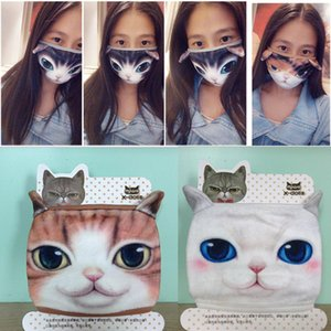 Cotton Dustproof Mouth Face Mask 3D Cartoon Cute Cat Mask Personality Washable For Women Men Face Mouth Masks Party DIY Decor