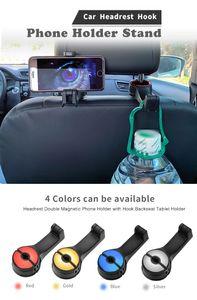 1 kafalık kanca telefonu tutucu Oto Baş Desteği Seat Universal 2 Geri Askı Cep Telefonu Tutucu Standı Klip Aracı Geri Seat Hook