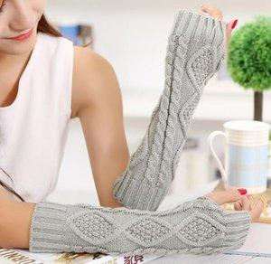 Bras Laine Printemps Automne Femmes Mode Hiver Warmers Gants Bouton tricotée Fingerless Mitten Gants longs Gants Gants tactiques GB1327