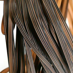 500G Kahve Dört satır örme ve onarım sandalye tablo için ham malzeme PE Rattan dokuma düz sentetik Rattan Taklit gradyan