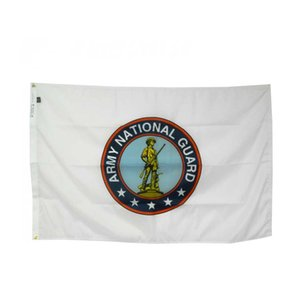 Army National Guard Flag 3x5ft Printing Polyester Club Team Sports Indoor With 2 Brass Grommets,Free Shipping