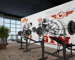 3d Wallpaper Custom Photo Modern Simple Gym Beauty Muscle Man Weightlifting Background Wall Decoration Mural Wallpaper