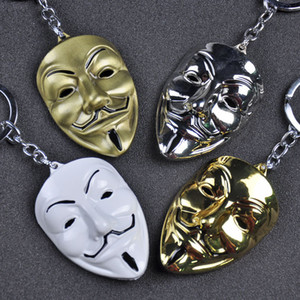 Clown V wie Vendetta Keychain Anonym GUY Mask Metal KeyRing Schlüsselanhänger für Männer Frauen Kinder Weihnachtsgeschenk