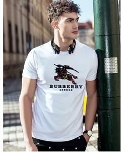 hombre del diseñador bañador 2020 diseñador de los hombres camiseta de los hombres Camiseta de las mujeres de Burberry alta calidad Negro Blanco Naranja