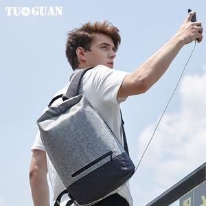 Tuguan  Laptop Backpacks Waterproof School Student Bag Casual USB Charge Travel Men Boys Back Pack Bagpack Wholesale Bags