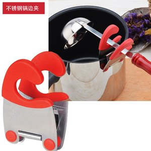 Yeni Mutfak Kaşık Pot Clip Kaşık Pot Tutucu Handy Mutfak Gadget Kaşık istirahat Organizatör Mutfak Aracı