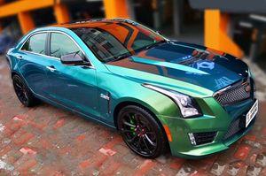 Haut de gamme Ambilight Gloss Caméléon Bleu Vert vinyle voiture Wrap feuille avec dégonflage Film pour la pleine voiture Emballage Autocollant 1.52x20 mètres