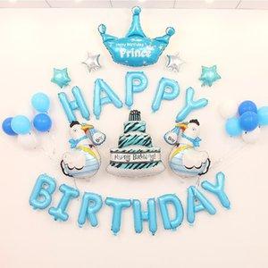 Bebek Çocuk Doğdun balon hava Mektupları Alphabe Unicorn folyo balonlar çocuklar oyuncak düğün doğum günü helyum globos parti balon