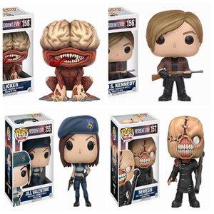 FUNKO POP NEW Resident Evil 10cm NEMESIS, Jill Valentine, LICKER Action Figure Sammlung Modell Spielzeug für Geschenke Kinder Geburtstag