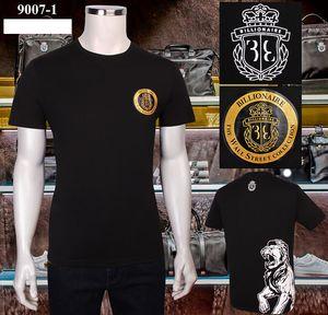 Billionaire Italian Couture T-Shirt Männer Kurzärmeliges 2020 neue Sommer-Baumwolle dünne Art und Weise Elastizität Rundhalsausschnitt-Druck Stickerei M-4XL