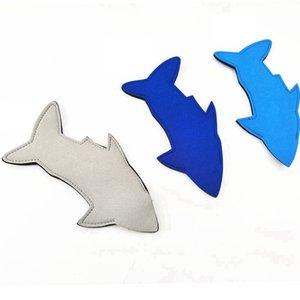 Tubarão Neoprene picolé Titular Koozies festa de aniversário do Peixe Ice Pop mangas Freezer Blanks Crianças Verão favores RRA3250