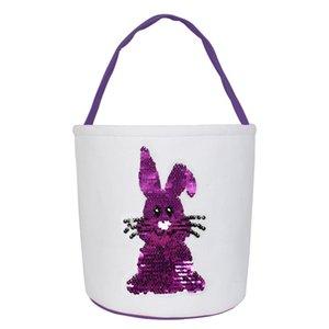 17 Arten !! Osterhase Korb Taschen Osterei-Korb-Partei-Festival-Dekor-Kaninchen-Häschen-Leinwand gedruckt Geschenk-Kinder tragen Eier Candy Bag