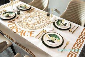 FashionNew Geometrische Muster DruckenI Tischdecke Neuer weiße Göttin Kopf V Brief Luxuxentwurf Tischdecke 4 Größe heiße Verkaufs-Tischdecke