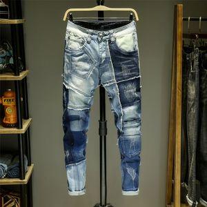 Masculinos 2019 jeans de luxo apertado carro diesel clássica calça jeans Praça balançar marca de jeans dos homens Renaissance Levi para homens motociclista altíssima qualidade
