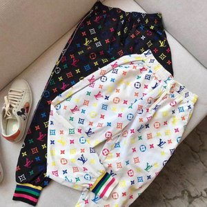 Luxury Mens Womens Brand Pants Designer Fashion Elastic Waist Loose Jogger Long Pants Colours Print Full Length Trousers Soft BE 2050701H