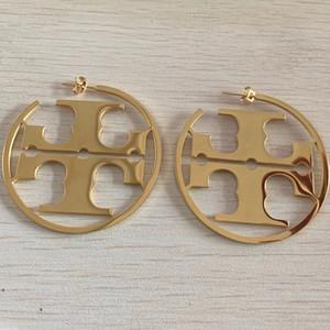 3 colori Nuovo superiore grande formato Fashion Design Orecchini in Hip Hop Titanio Acciaio Orecchini Oro Argento Rosa del cerchio per le donne monili all'ingrosso