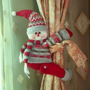 Decoraciones navideñas Papá Noel Ciervo Cortina Hebilla Soporte Clip Tieback Pantalla Ventana Sala de estar Regalos de Navidad 3 Estilos XD20221