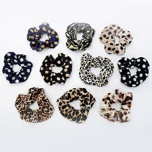 1Pc Мода Leopard Полосатый бархатной Галстуки волос Scrunchies девушки Bands Женщины Dot Упругие волосы мягкие аксессуары хвостик держатель
