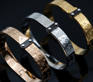 Nueva pulsera de la marca L Designer para las mujeres Señoras pulsera de moda de acero de titanio con 3 colores de joyería de lujo envío gratis
