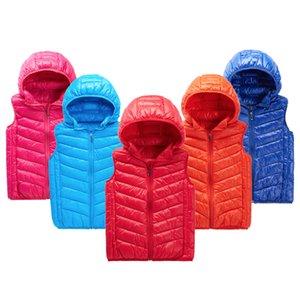 gilet pour les enfants pour les filles garçon bébé chaud gilet bébé fille vêtements d'hiver coton rembourré s'épaissir veste outwears gilet enfants