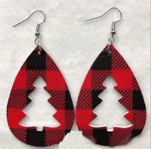 Christmas Tree Earrings Set Lightweight Faux Leather Earrings with Front and Back Patterned Statement Earrings For Girls  Womens