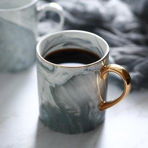Europäischer Marble Grain Phnom Penh tassen Paar-Geliebten Geschenk Morgen Tasse Milch, Kaffee, Tee Frühstück Porzellantasse für Geschenke