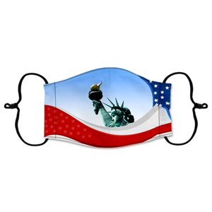 Vereinigte Staaten Flagge Designer Gesichtsmaske 2020 Usa Präsident Election Druck Sonnenschutz Staub Trump Mundmasken mit Filter # 3421