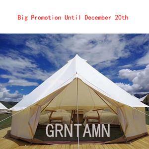 Barracas de Glamping brancas da barraca impermeável exterior de Grntamn 900D Oxford Bell para os partidos 3m a 6m