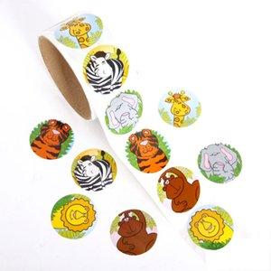 100pcs / Rulo Orman Hayvanlar Sızdırmazlık Sticker DIY hediyeler gönderildi Pişirme Dekorasyon Paketi Yapışkan Mühür Etiket çocuklar Şekeri