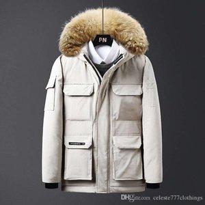 Mens Winter Jackets parkas Hoodies Warm Canada Cold zone Cotton blend parka Fake Fur collar Hooded Unisex Womens designer winter jacket logo