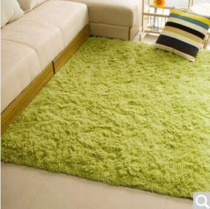 Luxury Living Room Carpet Plain Plush Fleece 450mm Bedroom Coffee Table Floor Blanket Door Foot Mat Fashion Green Burgundy Carpet Rug
