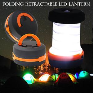 En plein air 3 modes lampe de poche tente de camping lampe de camping rétractable LED lanterne pour les urgences de randonnée allumer la torche pliante ZZA302