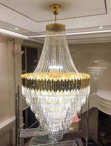 Große Kristallanhänger Leuchten Kronleuchter In Duplex Gebäude Luxushotel Lobby Technik Villa Lichter Wohnzimmer Hohle Chandelier LLFA