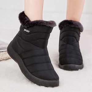 Women Boots 2019 New Snow Boots For Winter Shoes Woman Waterproof Ankle Botas Mujer Plus Size 43 Winter Boots Female Booties