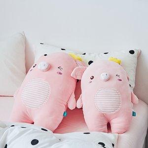 2020 juguetes de peluche lindo color rosa niñas muñeca cerdo siestas regalos de cumpleaños amortiguador de la felpa al por mayor