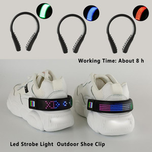 야간 깜박이 신발 클립 경고 방수 USB 충전 하이킹 야외 사이클링 스트로브 라이트 조깅 걷는 LED