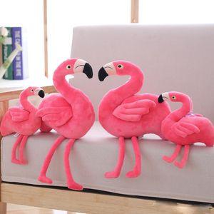 Kreative Simulation Flamingo Plüschtiere und Kissen nette Plüschtiere Vogel gefüllte Puppe Kissen Geschenk Kinder Spielzeug