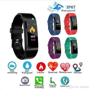 Per lo schermo ID115 Inoltre Smart Colour Bracciale Fitness Tracker smartband pressione cardiaca sanguigna Monitor intelligente Wristband