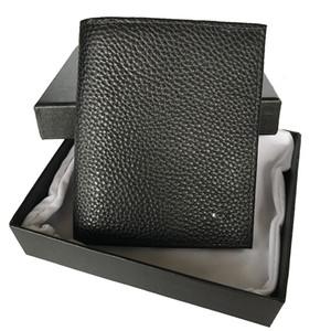 Luxe portefeuille concepteur de marque affaires poche portefeuille en cuir portefeuille hommes porte-carte allemande clip cash pièce 100% boîte en cuir
