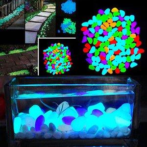 100pcs / bag luminosos Seixos Pedras Brilham no escuro jardim enfeites de casamento decoração de casa Ofícios do partido do evento Fontes 2C0203