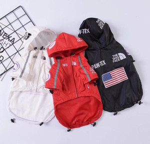 Haustier Hund Windjacke American Flag Print Dog Face Mantel Herbst-Winter-Sup Nord Bekleidung Mode Marke Pullunder Kleidung DHL