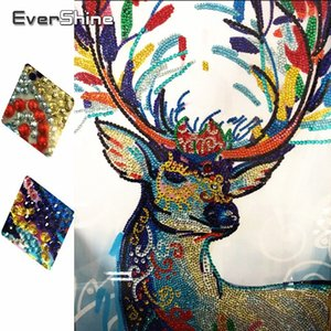wholesale Special Shaped Diamond Painting Deer Diamond Embroidery Animals Picture Of Rhinestones Home Decoration Diamond Mosaic