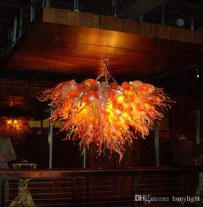 Soffiato antico lampadario lampade d'oro di colore a mano luce del pendente in vetro di Murano fantasia per la casa e l'Hotel Best Selling E27 LED Lamp
