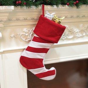 Bolsa de regalo de Navidad Medias de tela colgante del árbol de navidad ornamento de la impresión del modelo de Elk partido decoración del hogar Decoración de Navidad