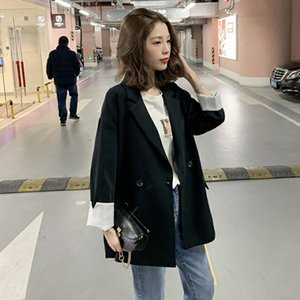 European 2019 Women Oversized Blazers Black Blazer and Jackets Femme Casual Chaqueta Mujer Bleiser Feminino