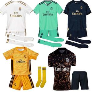 19 20 bambini + calzino calcio reale di Madrid maglie PERICOLO Kroos JOVIC JAMES camiseta 2019 maglia di calcio 2020 Vinicio ASENSIO bambini Versione speciale