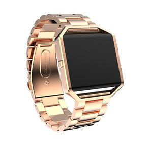 Fitbit 불꽃을위한 스테인레스 스틸 스트랩 어댑터가있는 Fitbit Watch 금속 손목 밴드 용 스마트 시계 밴드 23mm 링크 팔찌 시계 밴드
